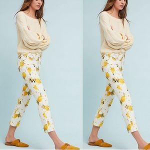 Anthropologie Lemon Grove High Rise Crop Jeans